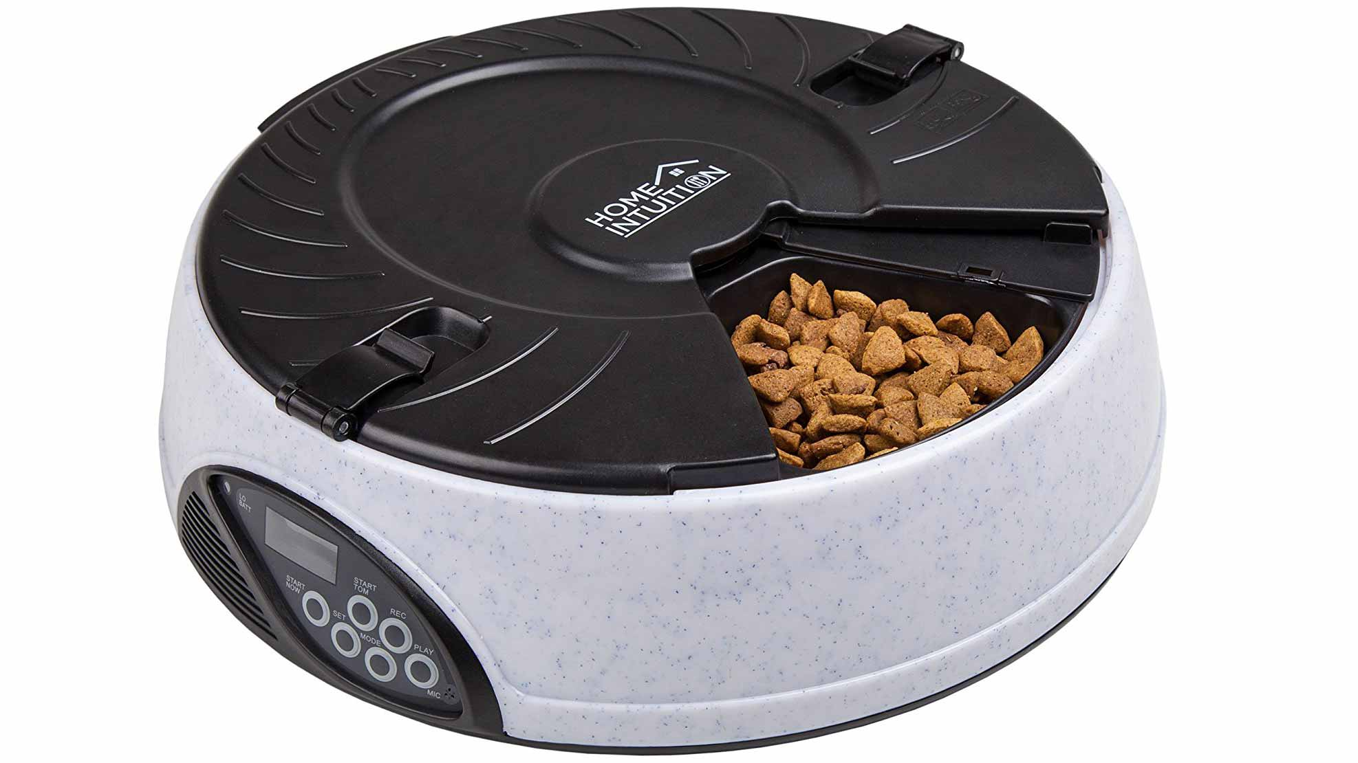 Home Intuition Portion Control 6-Meal Automatic Pet Feeder