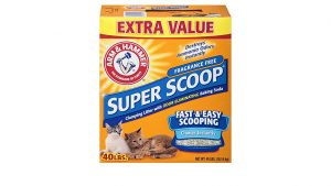 Arm & Hammer Fragrance Free Super-Scoop Clumping Litter